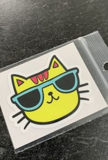 YELLOW CAT STICKER (CELL)