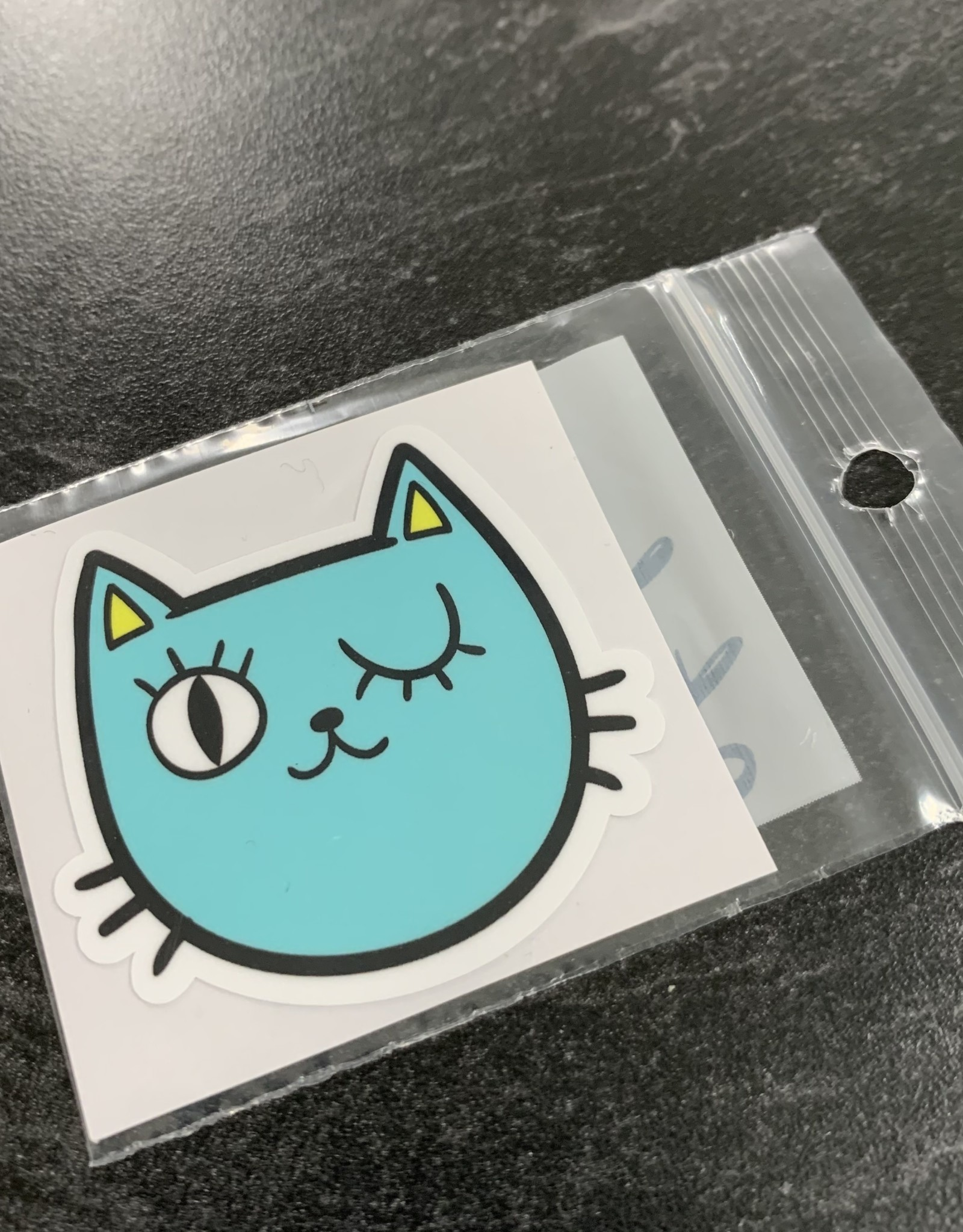 AQUA CAT STICKER (CELL)