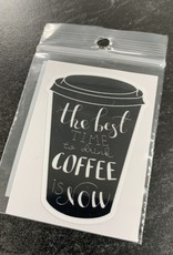 BEST TIME FOR COFFEE STICKER (CELL)