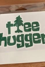 TREE HUGGER STICKER (LARGE)