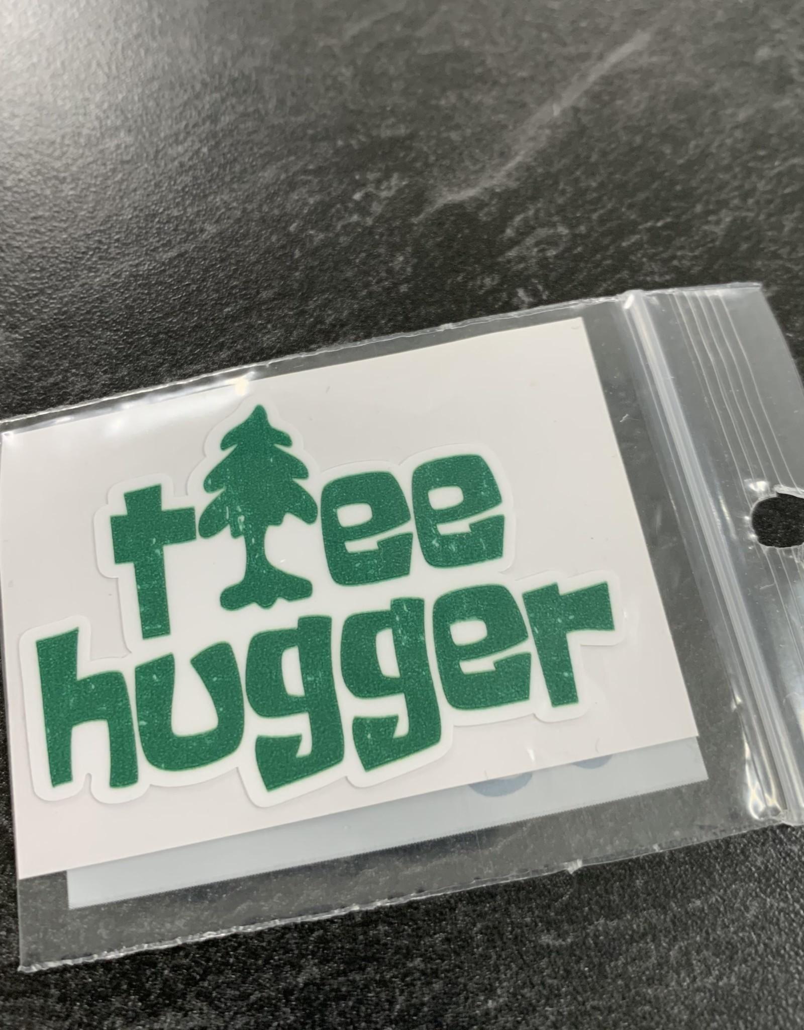 TREE HUGGER STICKER (CELL)