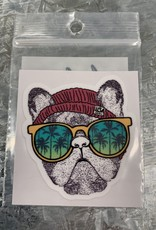 FRENCHIE SUNGLASSES STICKER (CELL)
