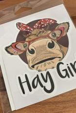HAY GIRL STICKER (LARGE)