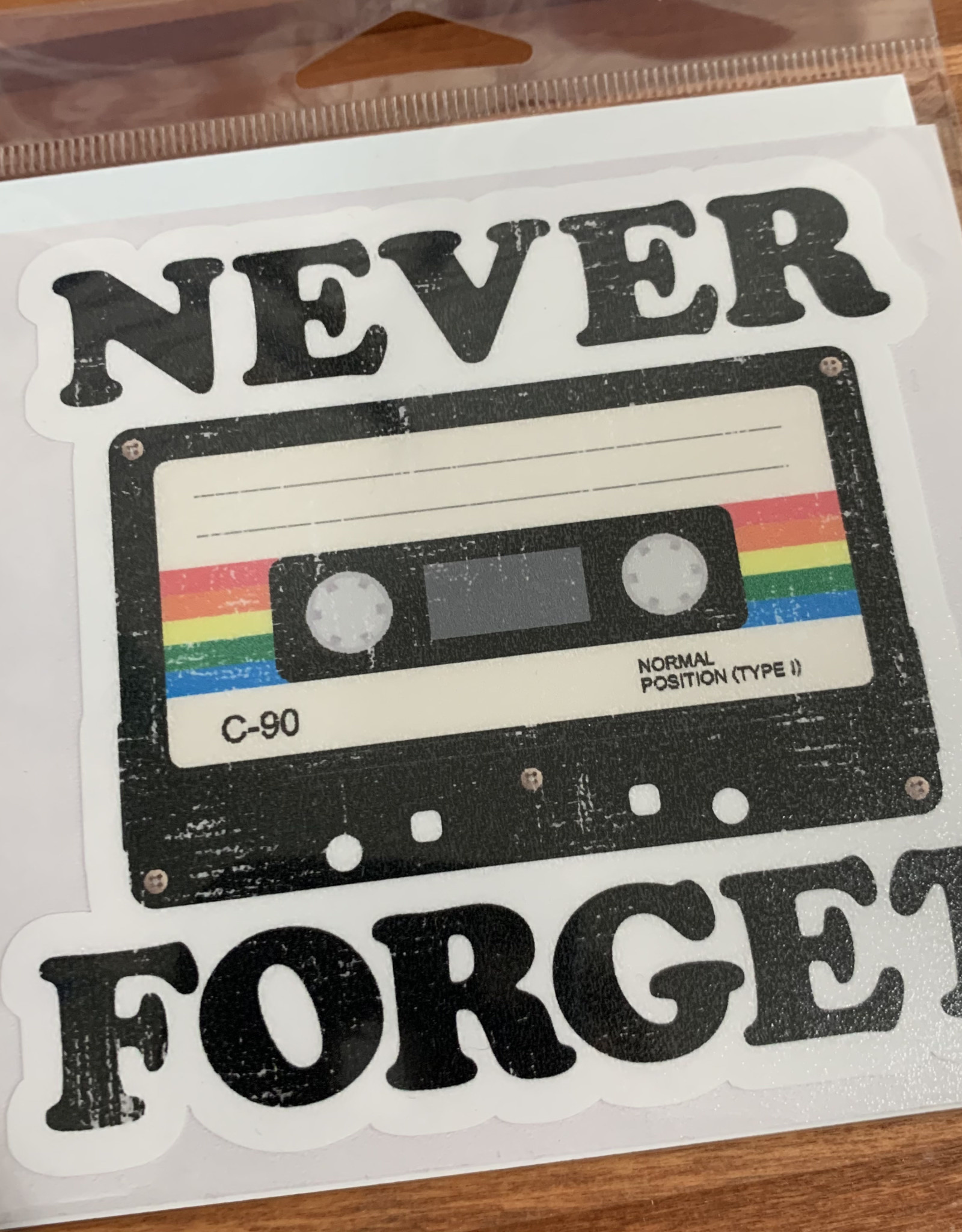 NEVER FORGET STICKER (LARGE)