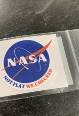NOT FLAT WE CHECKED STICKER (CELL)