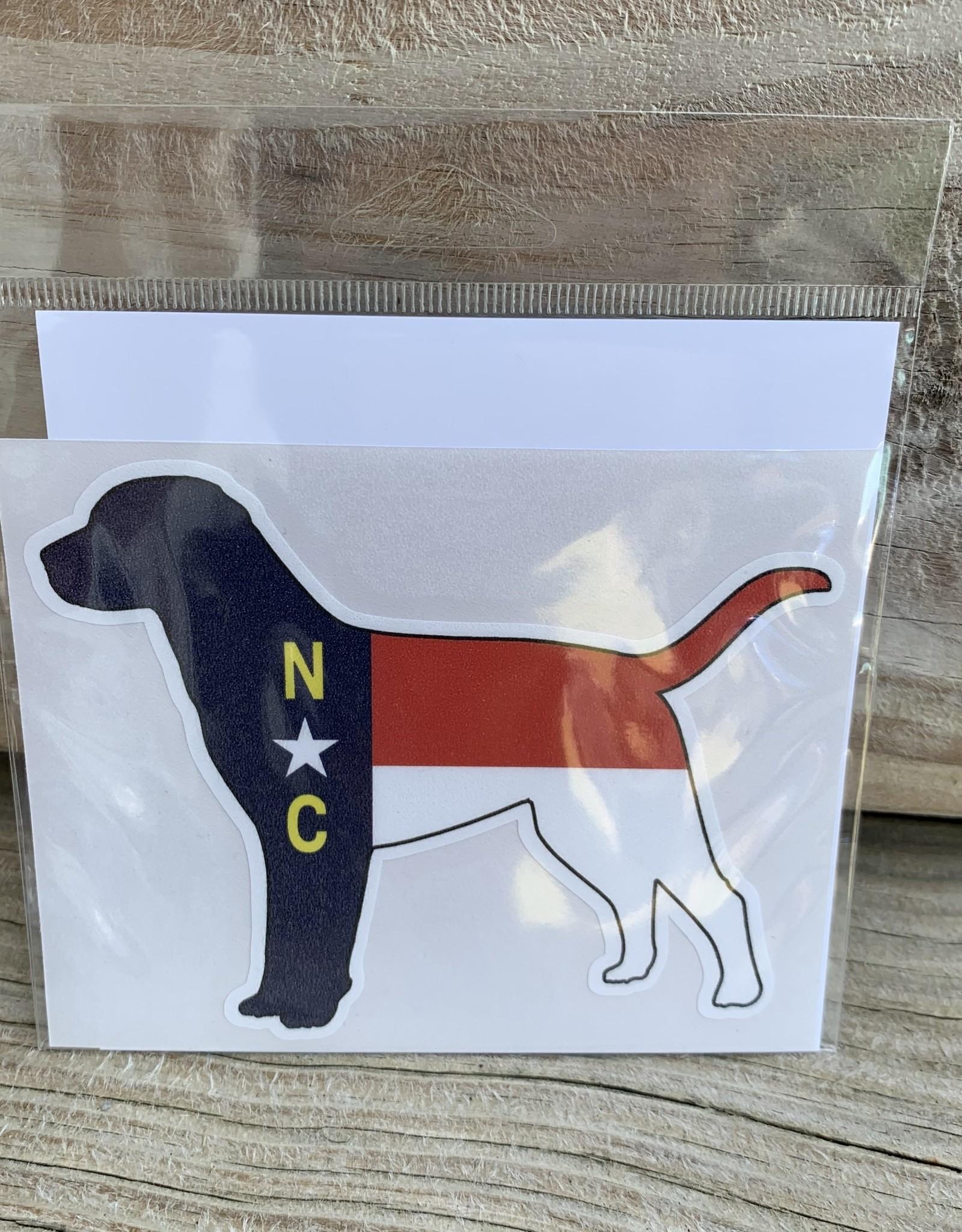 NC DOG STICKER (LARGE)