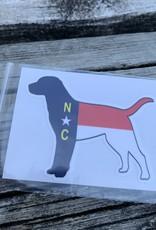 NC DOG STICKER (CELL)