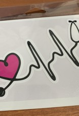 MEDICAL HEART STICKER (LARGE)