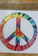 RAINBOW PEACE SIGN STICKER (LARGE)
