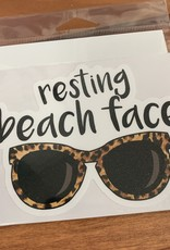 RESTING BEACH FACE STICKER (LARGE)