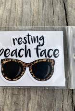 RESTING BEACH FACE STICKER (CELL)