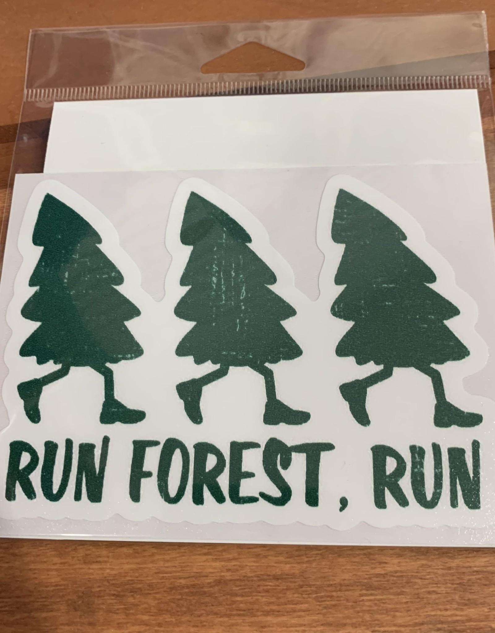 RUN FOREST RUN STICKER (LARGE)