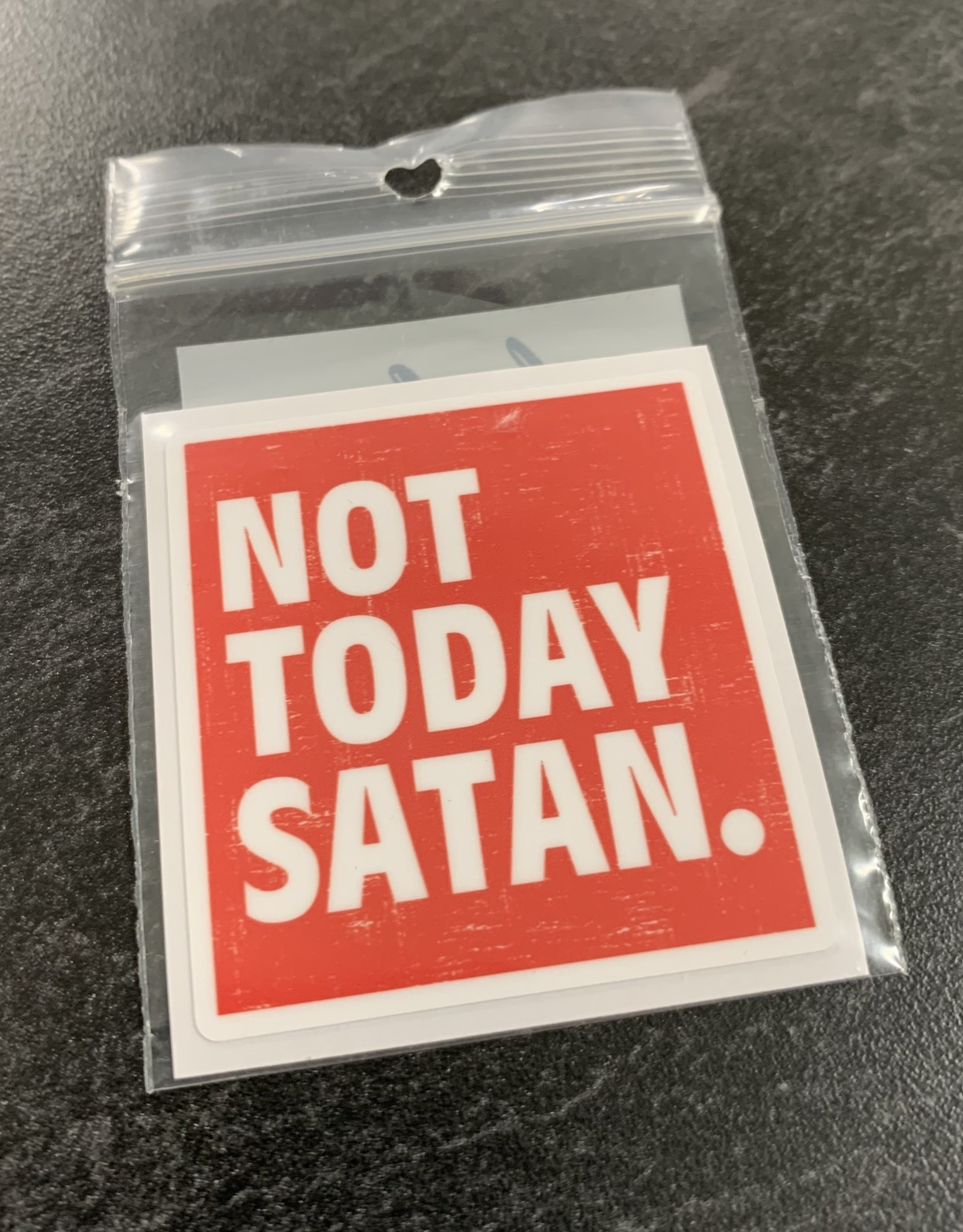 NOT TODAY SATAN STICKER (CELL)
