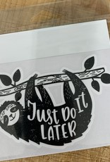 DO IT LATER SLOTH STICKER (LARGE)