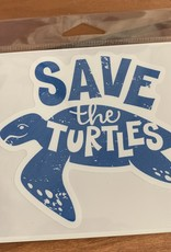 SAVE THE TURTLES STICKER (LARGE)