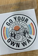GO YOUR OWN WAY STICKER (LARGE)