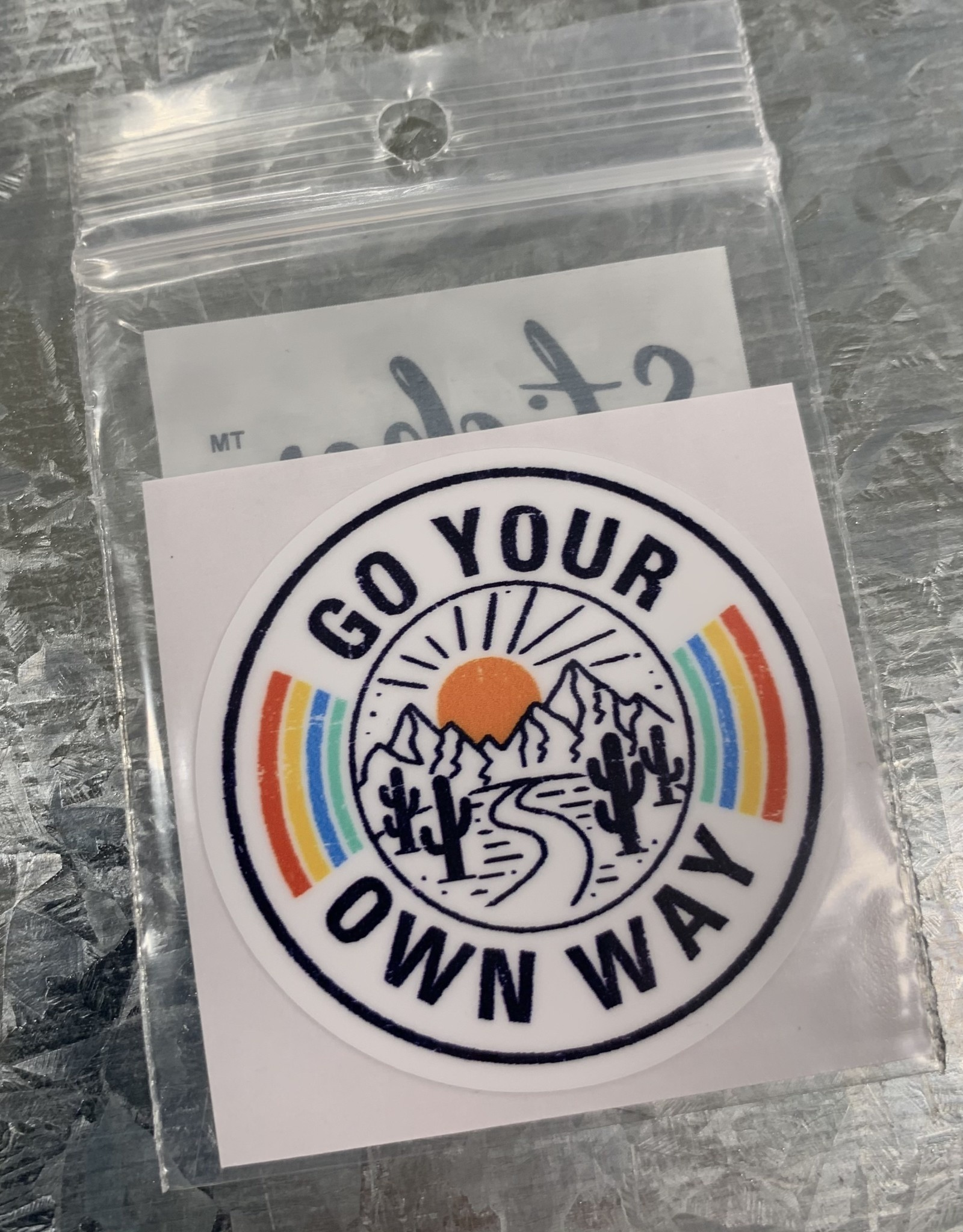 GO YOUR OWN WAY STICKER (CELL)