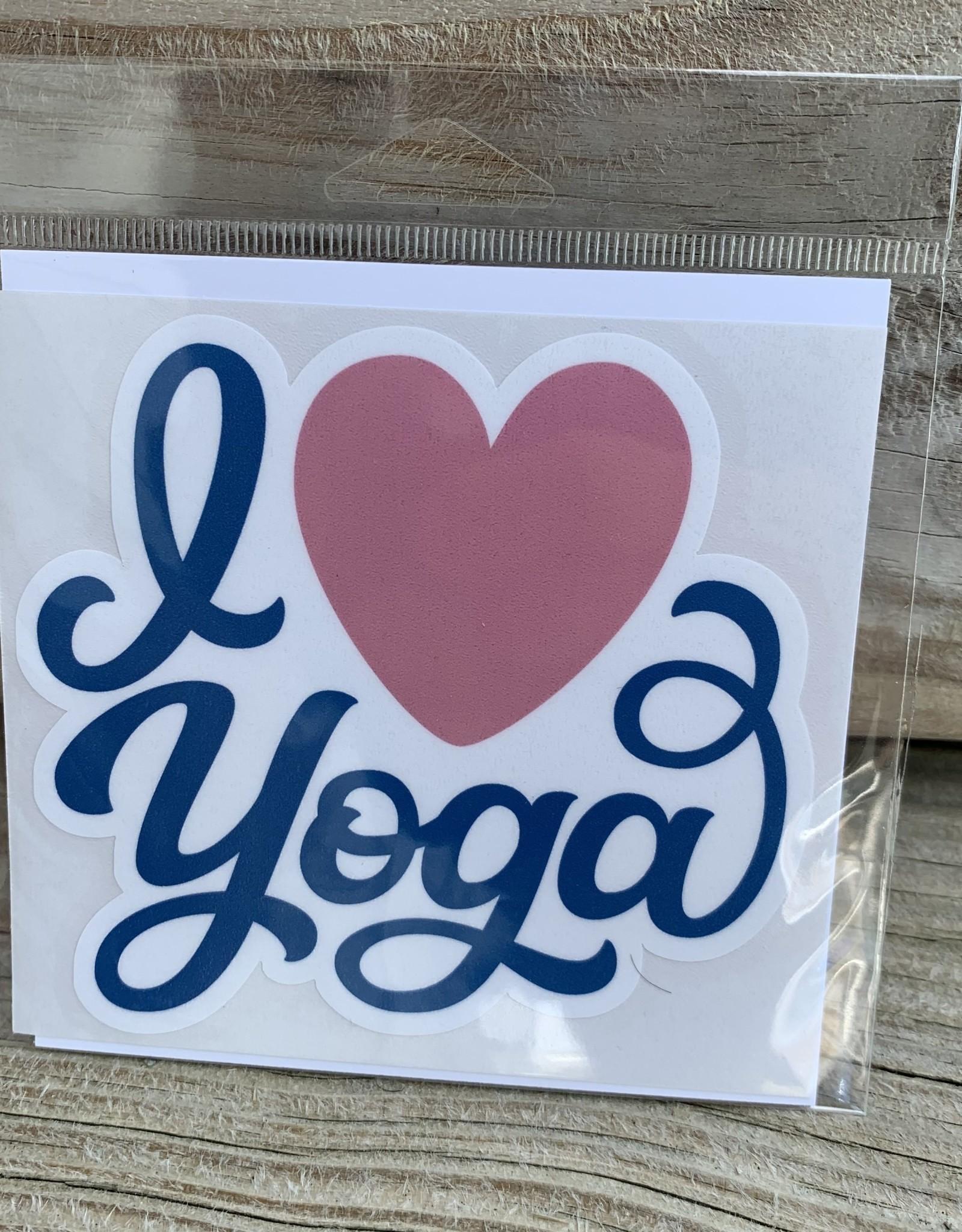 I LOVE YOGA STICKER (LARGE)