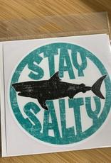 STAY SALTY SHARK STICKER (LARGE)
