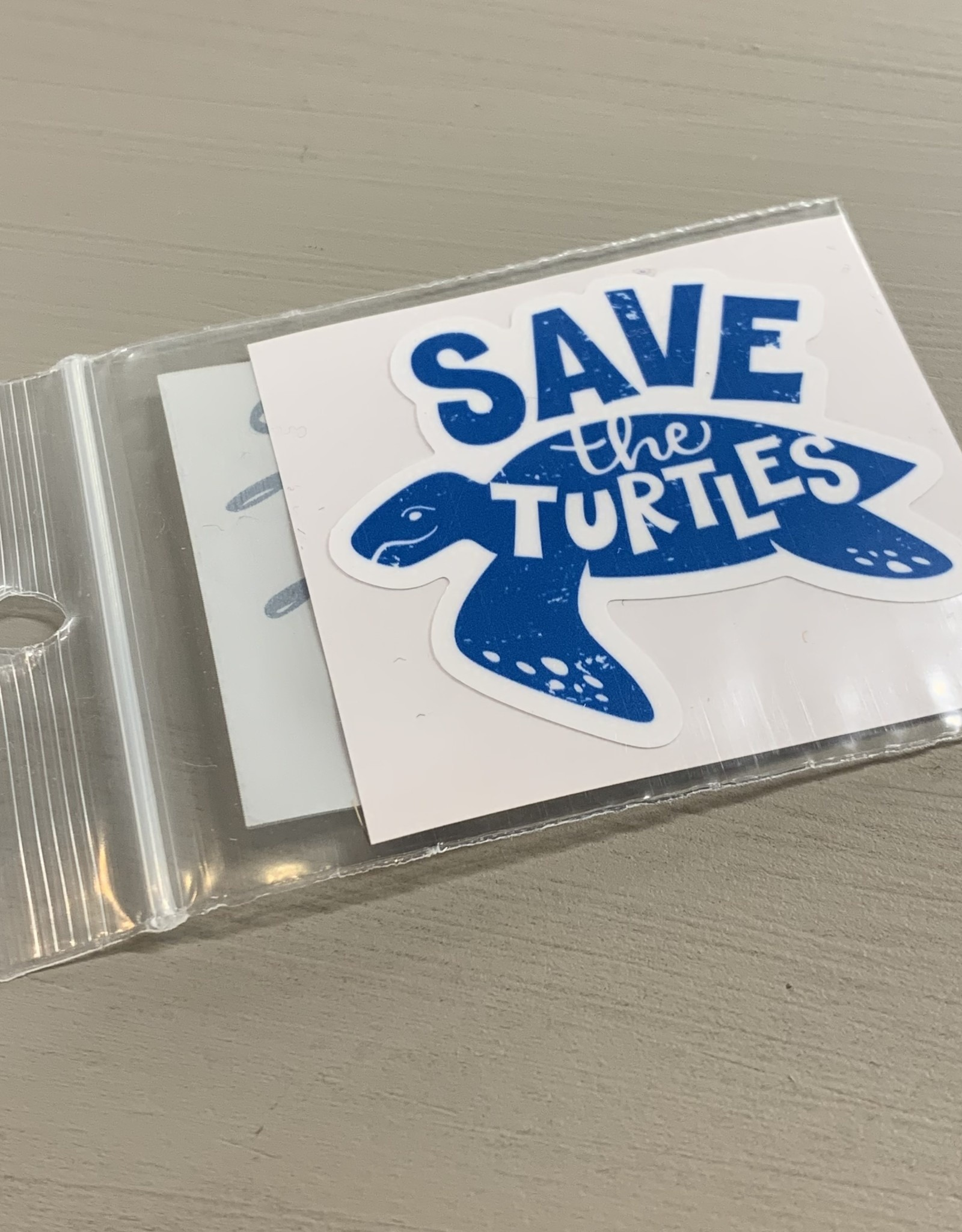 SAVE THE TURTLES STICKER (CELL)