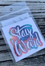 STAY WEIRD 2 STICKER (CELL)