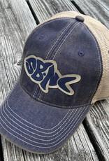 SBNC FISH OFA TRUCKER CAP NAVY