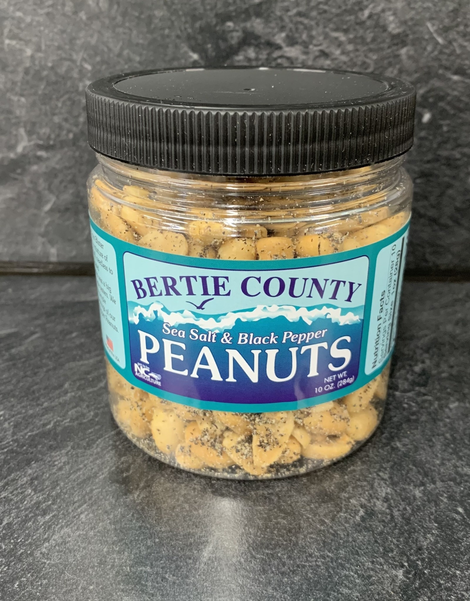 BERTIE CO SEA SALT & BLACK PEPER PEANUTS 10oz
