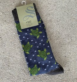 TURTLE TALES MENS SOCKS DENIM