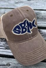 SBNC FISH OFA TRUCKER CAP BROWN