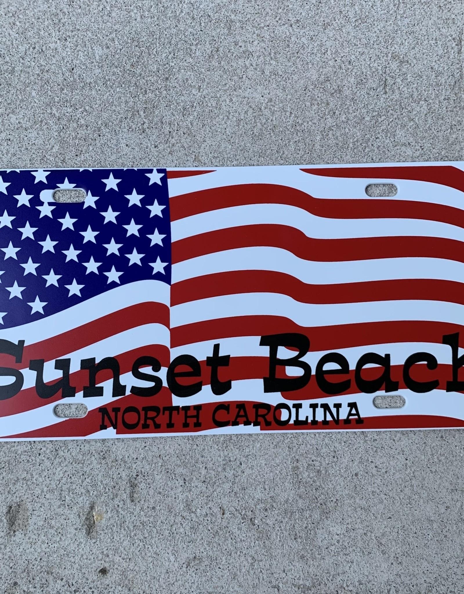 AMERICAN FLAG SB LICENSE PLATE