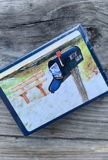 PLAYING CARDS KS MAILBOX & BENCH WATERCOLOR