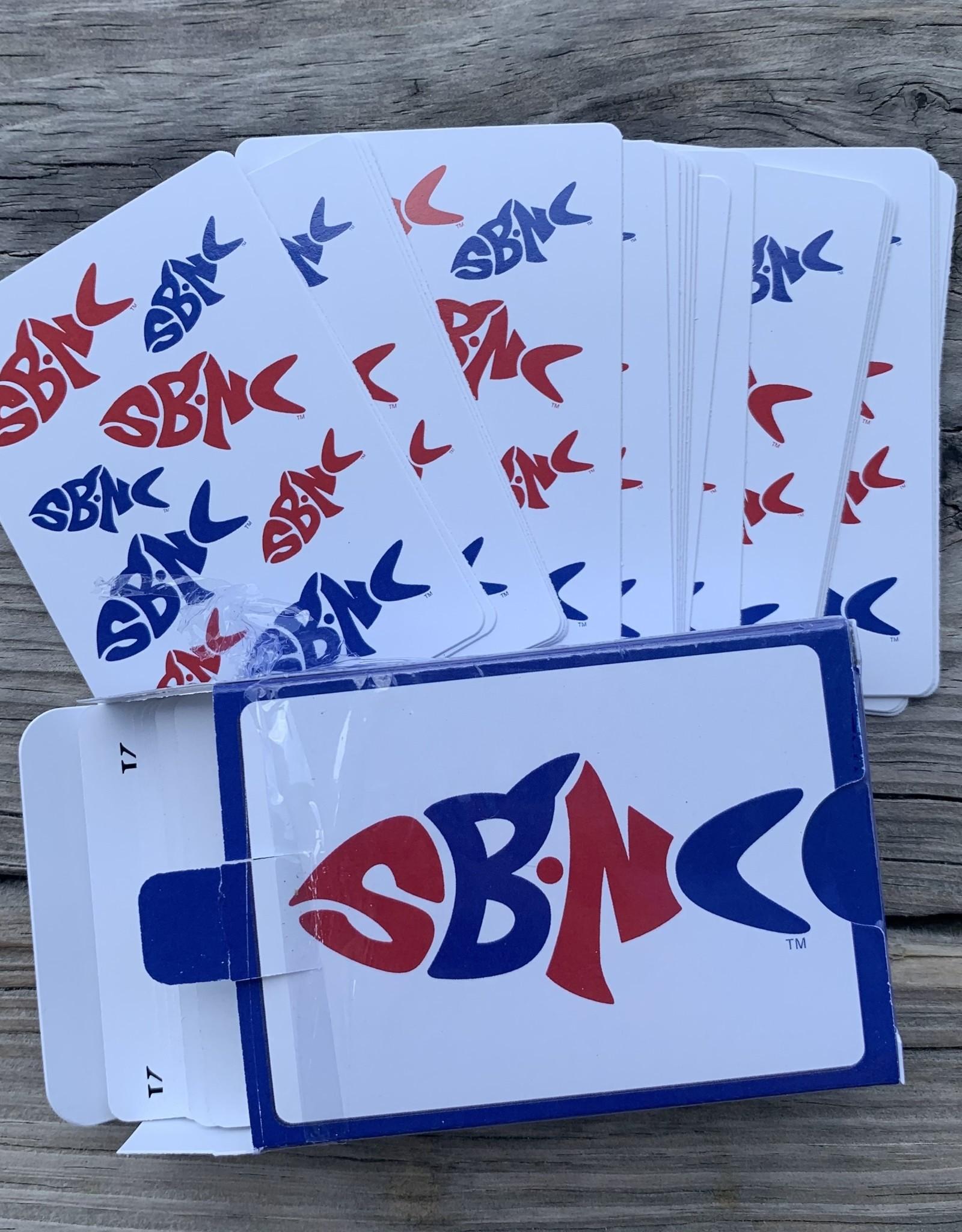 sbncfish PLAYING CARDS SBNC FISH