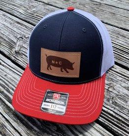 NC PIG NAVY/WHITE/RED CAP