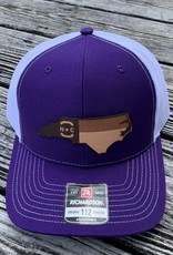 NC ETCHED STATE PURP/WHITE CAP