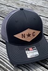 NC DIAMOND PATCH BLK/CHAR CAP