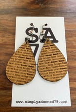 SA79 - SB TEARDROP - GOLD EARRING