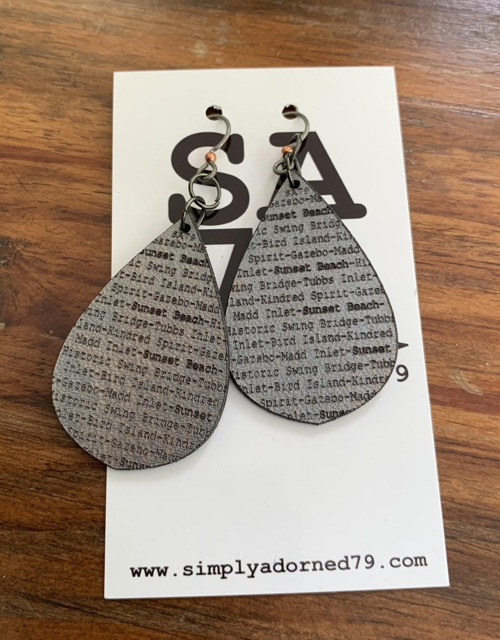 SA79 - SB TEARDROP - SILVER EARRING