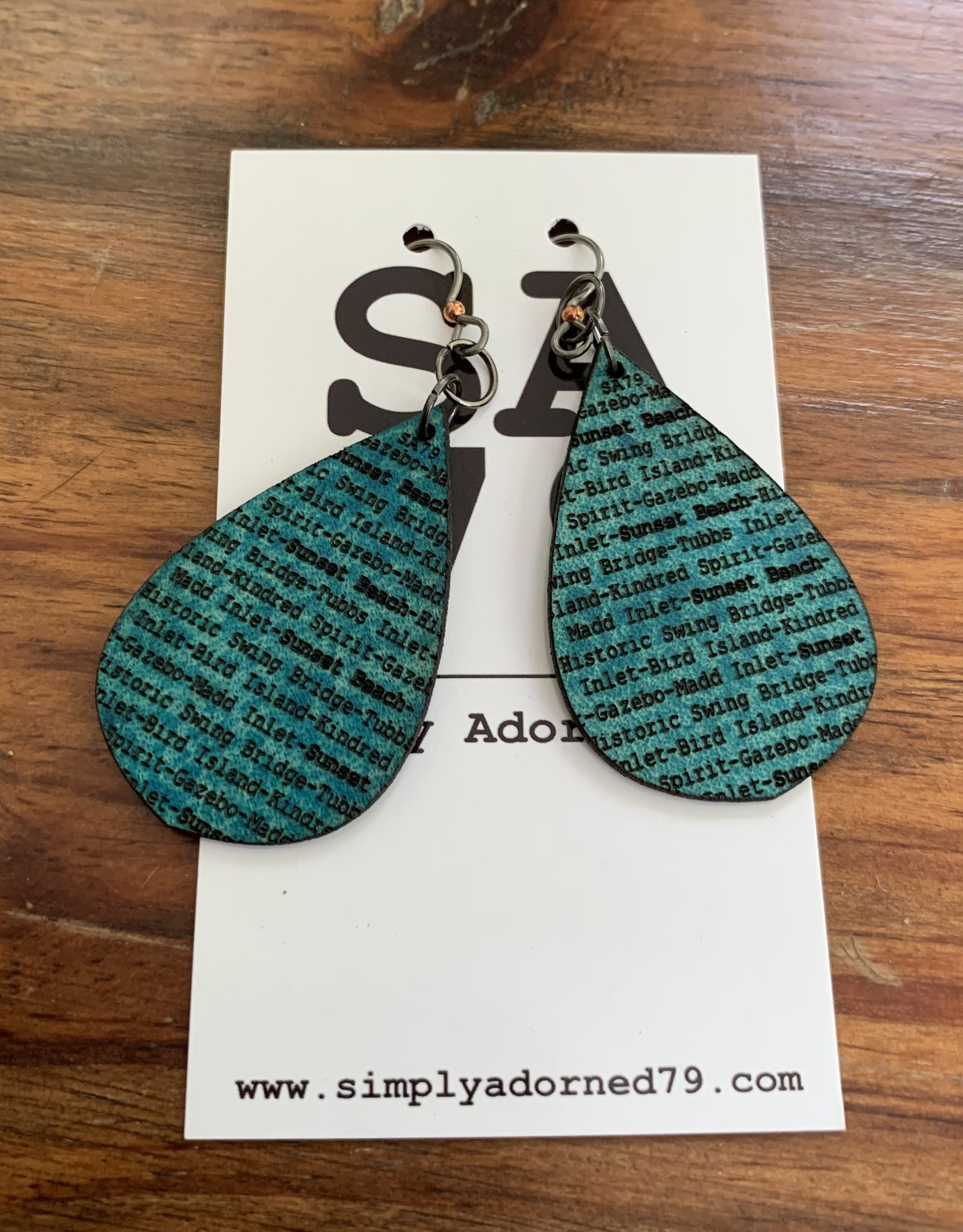 SA79 - SB TEARDROP - TURQUOISE EARRING