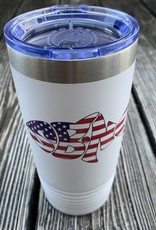 SBNC FISH 20oz TUMBLER WHITE USA FLAG