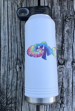 sbncfish SBNC FISH 32oz WHITE STRAW BOTTLE TIE-DAY RAINBOW