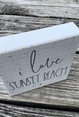 BLOCK I LOVE SUNSET BEACH