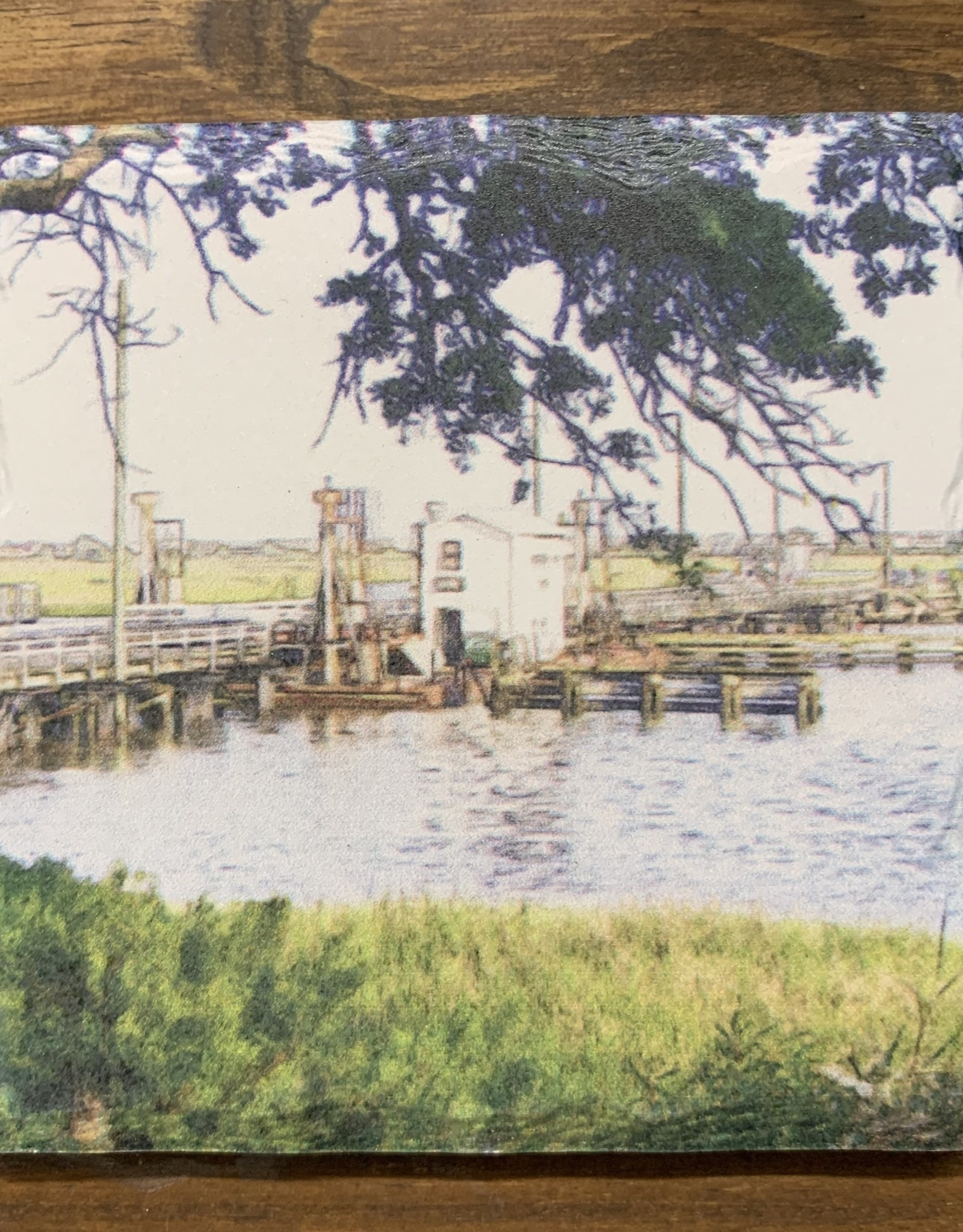 OLD BRIDGE PENCIL ART COASTER