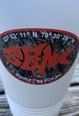 sbncfish SBNC FISH  OVAL 20oz WHITE TUMBLER CAMO