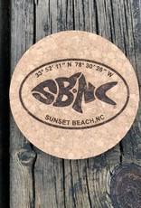 sbncfish OVAL SBNC FISH ROUND CORK COASTER
