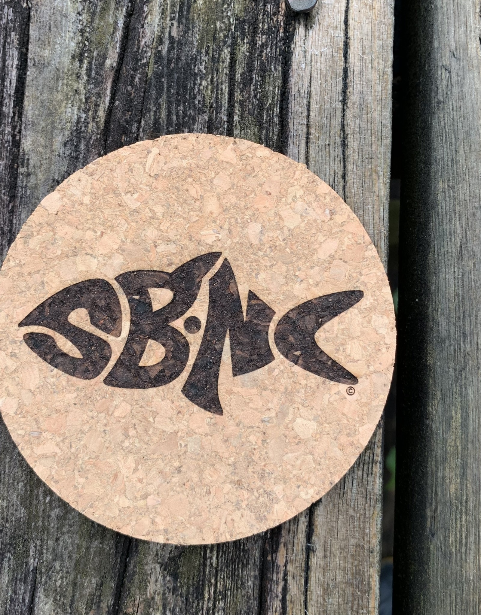 sbncfish SBNC FISH ROUND CORK COASTER