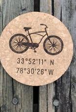 sbncfish BICYCLE ROUND CORK COASTER