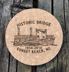 sbncfish HISTORIC BRIDGE ROUND CORK COASTER