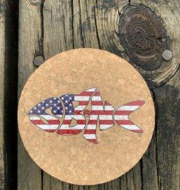 sbncfish SBNC FISH USA ROUND CORK COASTER