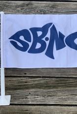 sbncfish SBNC FISH CAR FLAG NAVY