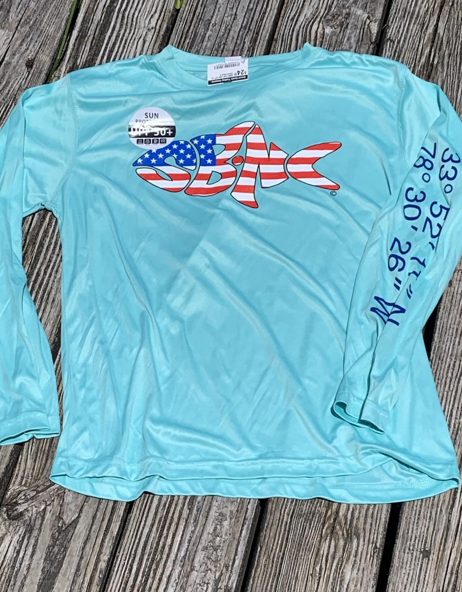 sbncfish SBNC FISH USA UPF LS CREW